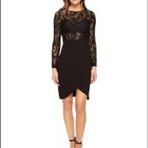 NWOT Aiden Long sleeved lace crepe dress
